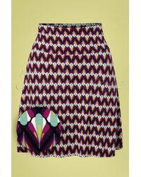 King Louie 60s Namaste Border Skirt - Meerkleurig