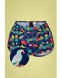 Esther Williams Swimwear 50s Classic Rain Forest Bikini Pants - Meerkleurig