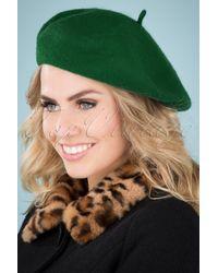 Collectif Clothing 60s Lauren Plain Beret - Groen
