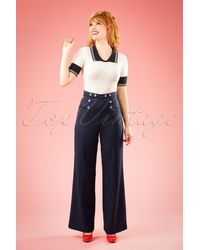 Banned Retro - 40s Stay Awhile Trousers - Lyst