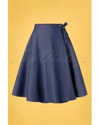 Banned Retro 50s Sweet Sail Wrap Swing Skirt - Blauw