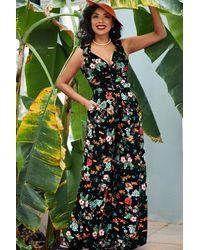 Miss Candyfloss 50s Zara Lou Floral Jumpsuit - Meerkleurig