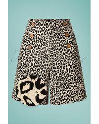 Banned Retro 50s Wild Child Shorts - Zwart
