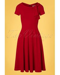 vintage chic for topvintage 50s Beverly Swing Dress - Rood