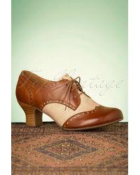 Miz Mooz 40s Tully Leather Shoe Booties - Bruin