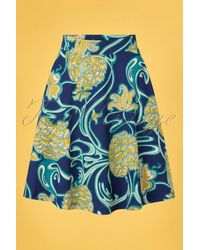 King Louie 60s Serena Coronado Skirt - Blauw