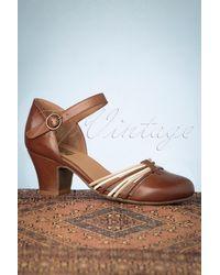 Miz Mooz 60s Fedora Leather Pumps - Bruin