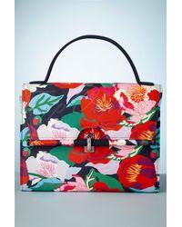 Ruby Shoo 50s Malibu Floral Handbag - Rood