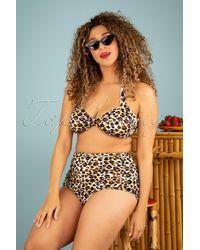 Esther Williams Swimwear 50s Sarong Bikini Bottoms - Meerkleurig