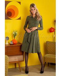 King Louie 60s Sheeva Calypso Dress - Groen