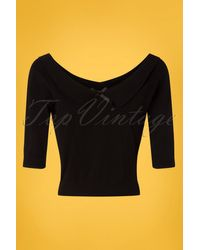 Collectif Clothing 50s Babette Jumper - Zwart