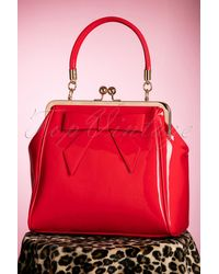 Banned Retro 50s American Vintage Patent Bag - Rood