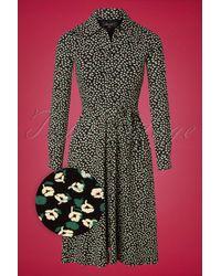 King Louie 60s Olive Sevres Dress - Zwart
