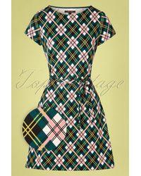 King Louie 60s Zoe Cambridge Dress - Groen