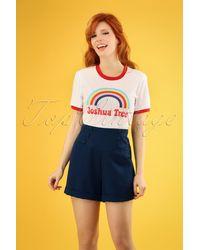 Banned Retro 50s Cute As A Button Shorts - Blauw
