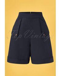 Banned Retro 50s Sweet Summer Sail Shorts - Blauw