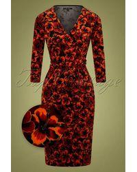 King Louie 50s Anja Ceylon Dress - Rood