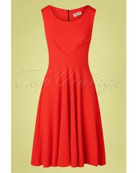 vintage chic for topvintage 50s Emery Swing Dress - Rood