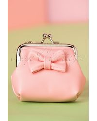 Banned Retro 50s Sienna Bow Small Wallet - Roze