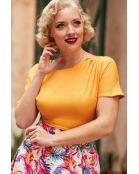 Miss Candyfloss 50s Merle Top - Geel
