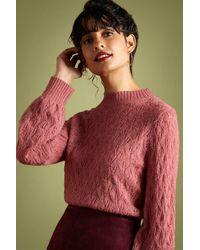 King Louie 60s Jeannie Vallina Wool Sweater - Roze
