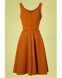Miss Candyfloss 50s Darcy Swing Dress - Oranje