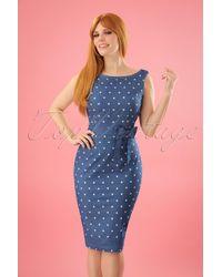 Banned Retro 50s Judy Hearts Dress - Blauw