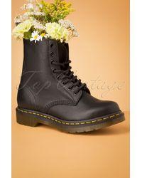 Dr. Martens 1460 Virginia Ankle Boots - Zwart