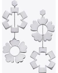 Tory Burch - Floral Drop Earrings - Lyst