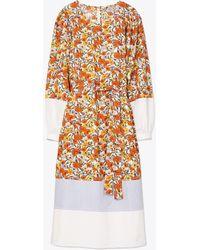 Tory Burch Mixed - Print Cotton Dress - White