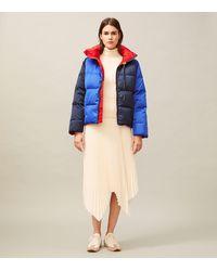 Tory Burch Reversible Color-block Down Jacket - Blue