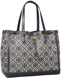 Tory Burch Tote Bag Aus Jacquard Mit T-Monogramm - Blau