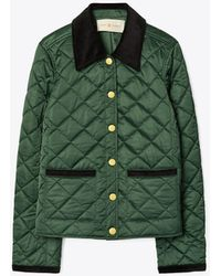 Tory Burch Quilted Barn Jacket - Green