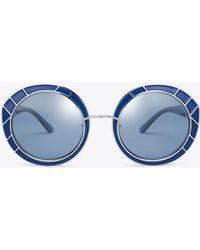 Tory Burch - Metal-trim Round Sunglasses - Lyst