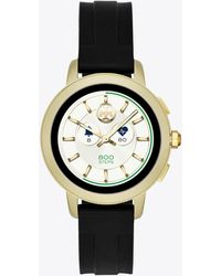 Tory Burch Tory Black Silicone Touchscreen Smart Watch