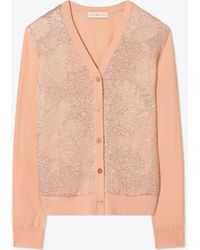 Tory Burch - Floral Cloque-front Cardigan - Lyst