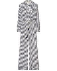 Tory Burch Striped Jumpsuit - Grau