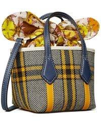 Tory Burch Perry Plaid Micro Tote Bag - Multicolour