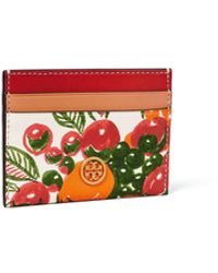 Tory Burch Robinson Printed Card Case - Red