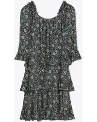 Tory Burch - Printed Ruffle Dress   437   Other Dresses - Lyst