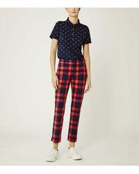 Tory Sport Yarn-dyed Tech Twill Golf Pants - Red