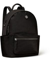 Tory Burch Nylon Zip Backpack - Black