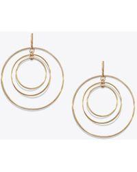 Tory Burch - Wire Hoop Earring - Lyst