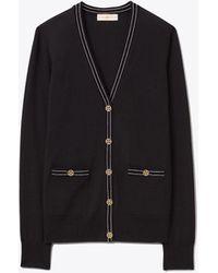 Tory Burch Madeline Merino Wool Cardigan - Multicolour