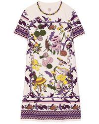 Tory Burch Party T-Shirt-Kleid Mit Pilzmotiven - Mehrfarbig
