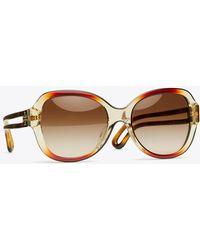 56fa625b645c Tory Burch - Robinson Butterfly Sunglasses - Lyst