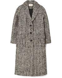 Tory Burch Oversized Tweed Coat - Black