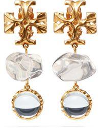 Tory Burch Roxanne Double-drop Earring - Multicolour
