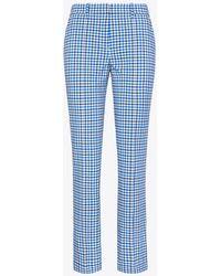 Tory Sport Tech Stretch Twill Gingham Pants - Blue