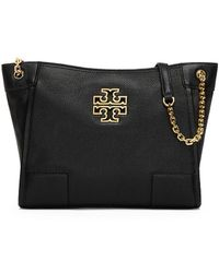 Tory Burch - Britten Small Slouchy Leather Tote - Lyst